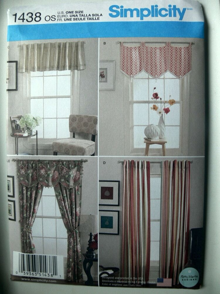 Simplicity Pattern 1438 Window Treatments Curtains Drapes Home Decor Ebay