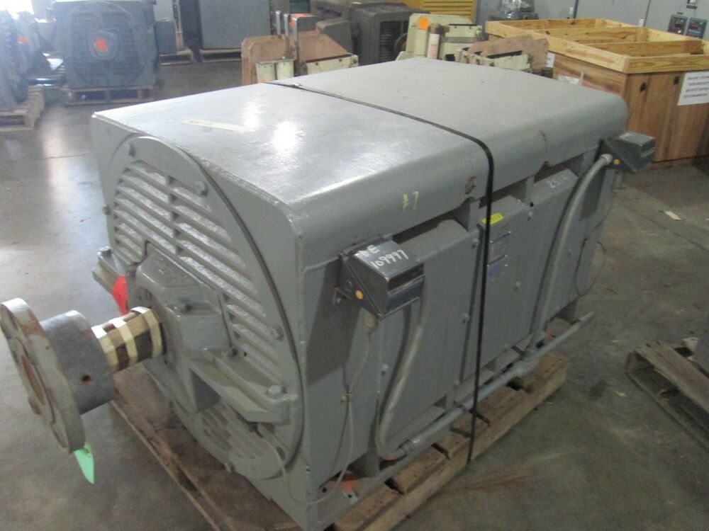 Westinghouse motor 400hp 900rpm 6808l frame 2300v 98a dp for 400 hp electric motor