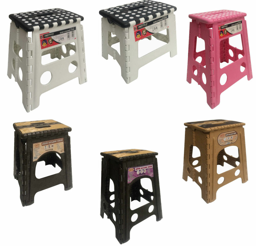 Plastic Step Stool Folding Foldable Multi Purpose Heavy