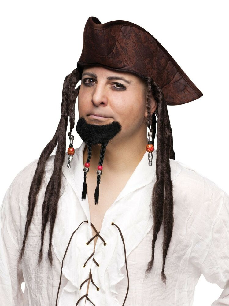sparrow hair style pirate braided goatee beard beaded mens 5099