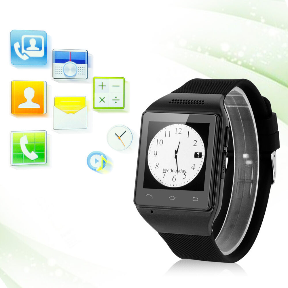 Touch Smart Wrist Watch Cell Phone Mobile MP3 FM Bluetooth ...