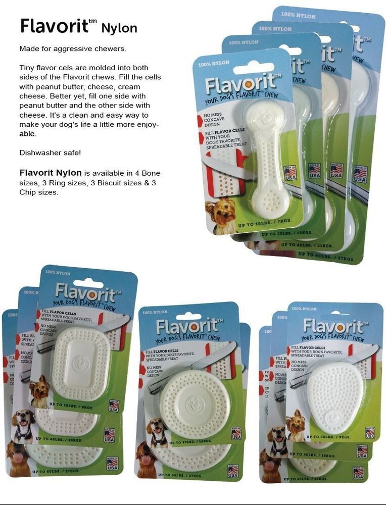 FLAVORIT! Nylon Heavy Duty Chew Toy Molded to Fill with
