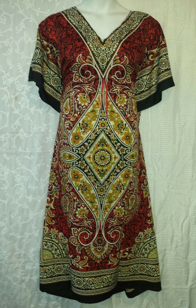 Women Kaftan African Dress Caftan Poncho Gown Boho Dashiki