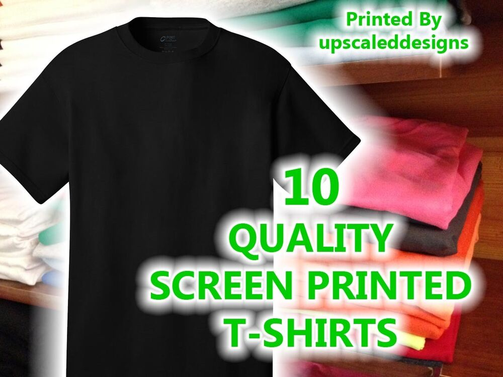 10 custom screen printed t shirts tee shirt silk t shirts