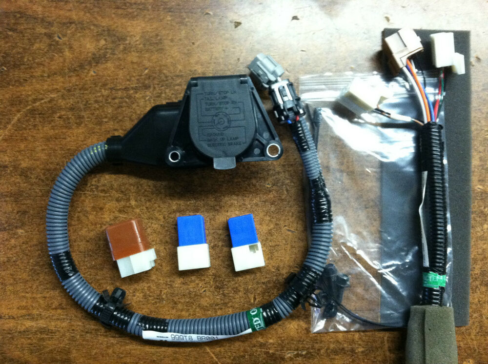 pin trailer harness new oem 2005 2017 nissan frontier 7 pin trailer tow harness kit complete