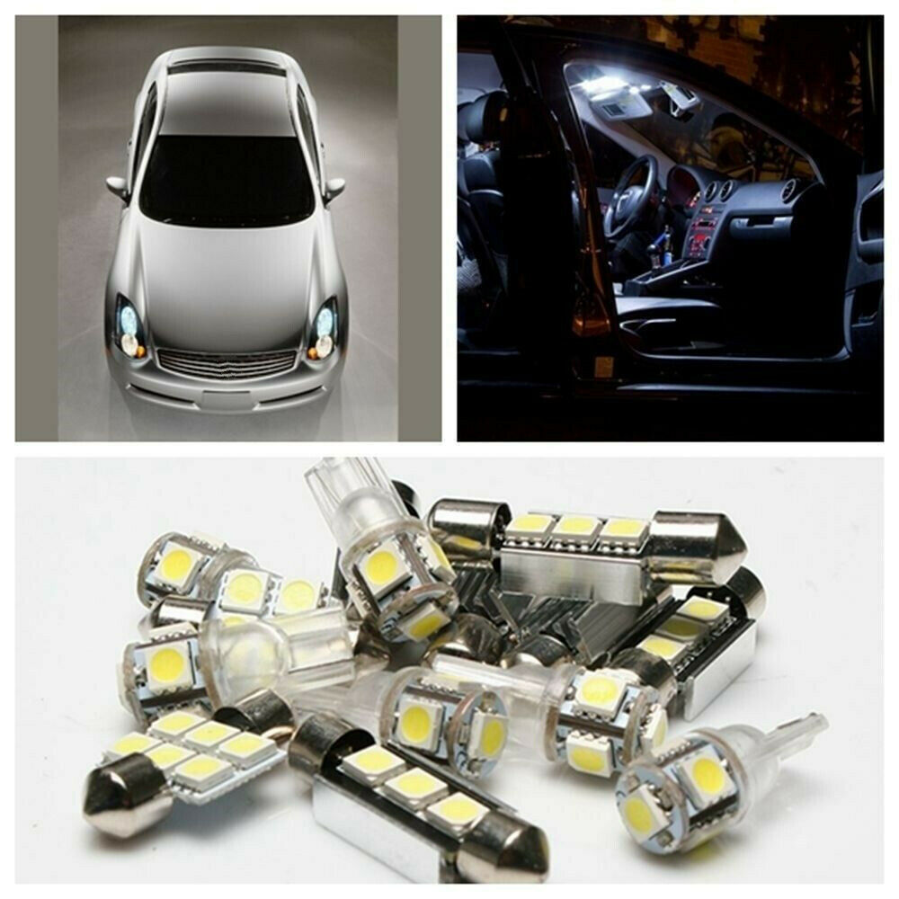7 x white led light bulb interior package kit for 2004 infiniti g35 coupe ebay. Black Bedroom Furniture Sets. Home Design Ideas