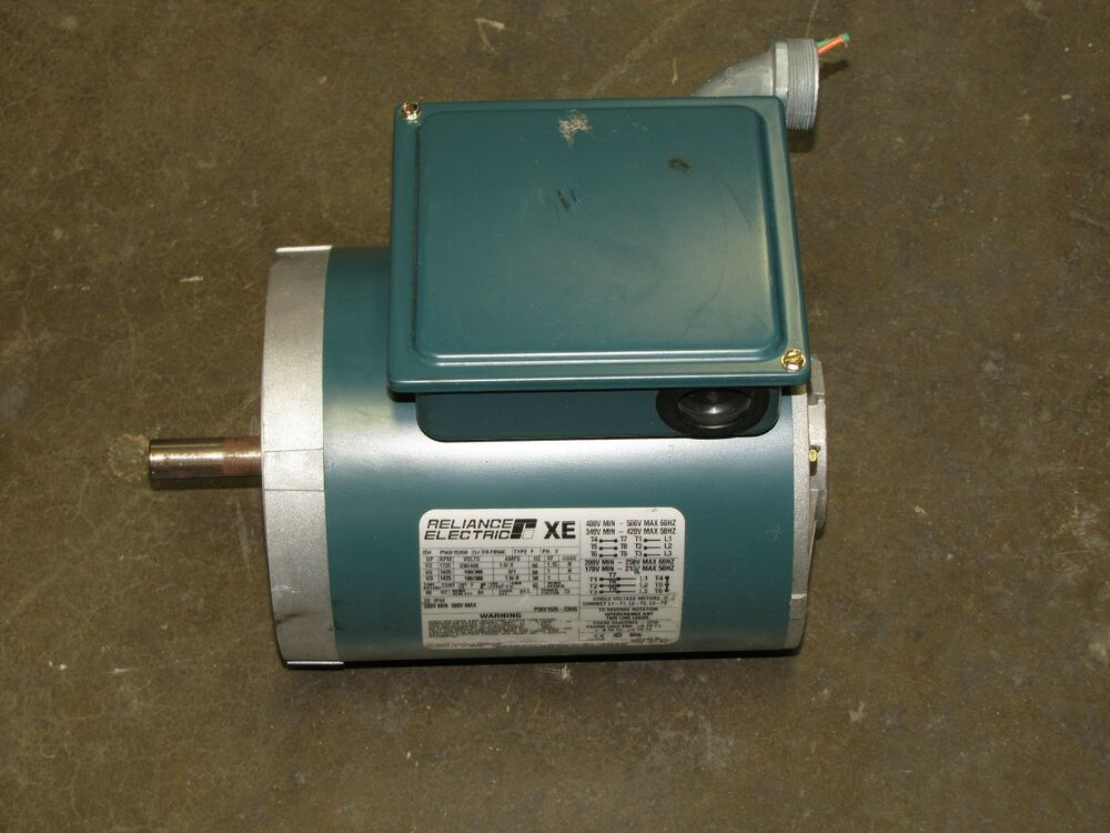 Reliance p56x1526h 1 2hp 1 2 hp 230 460v 3 phase 3ph xe for 1 5 hp 3 phase electric motor