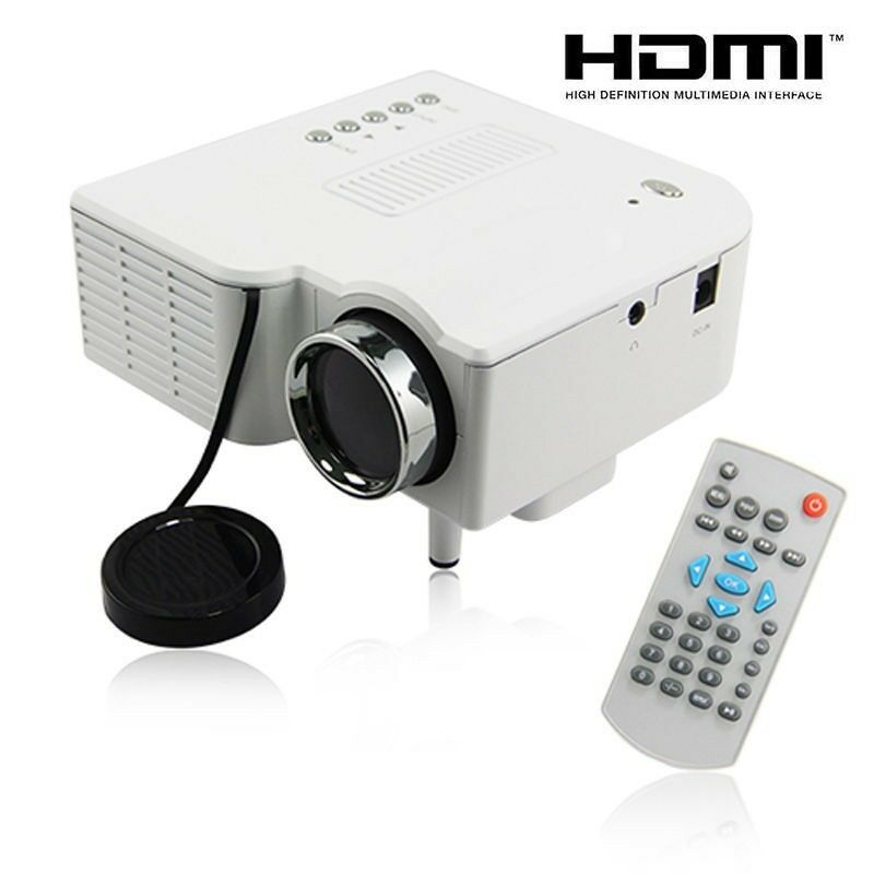 Uc28 pro hdmi portable mini led projector home cinema for Mini portable pocket projector