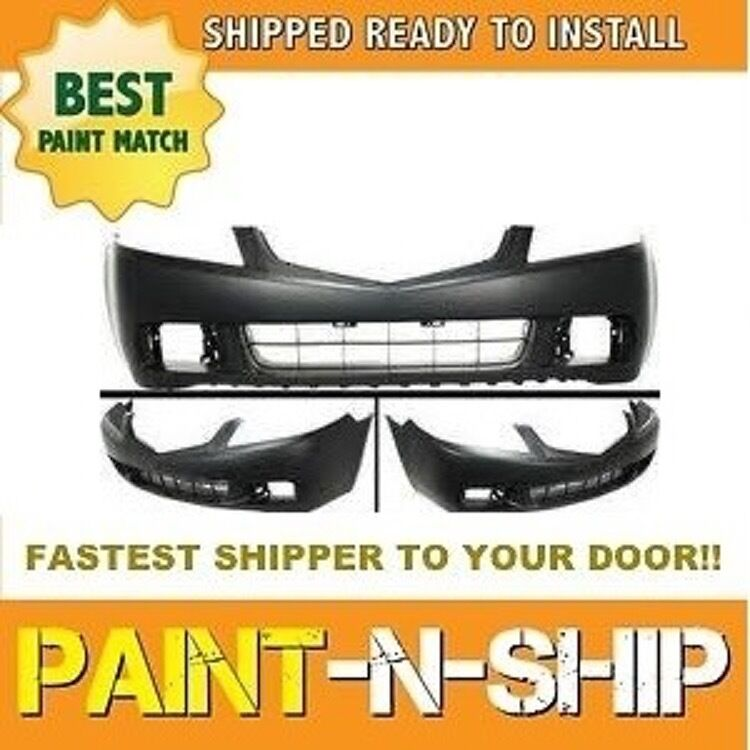 Fits 2004 2005 Acura TSX Sedan Front Bumper Painted To