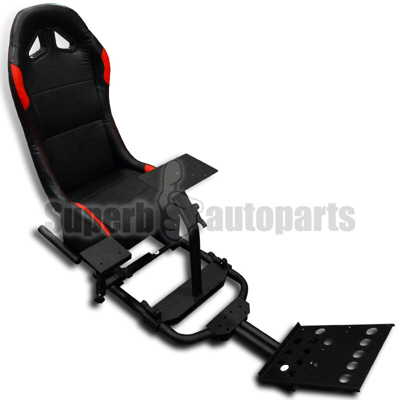 racing game seat driving simulation corsa gaming seat cockpit xbox 360 ps3 ps4 ebay. Black Bedroom Furniture Sets. Home Design Ideas