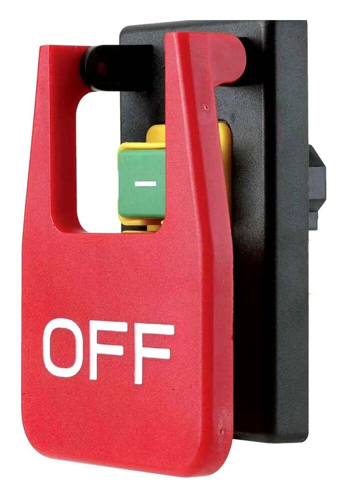 Shop fox safety paddle on off switch for volt machines