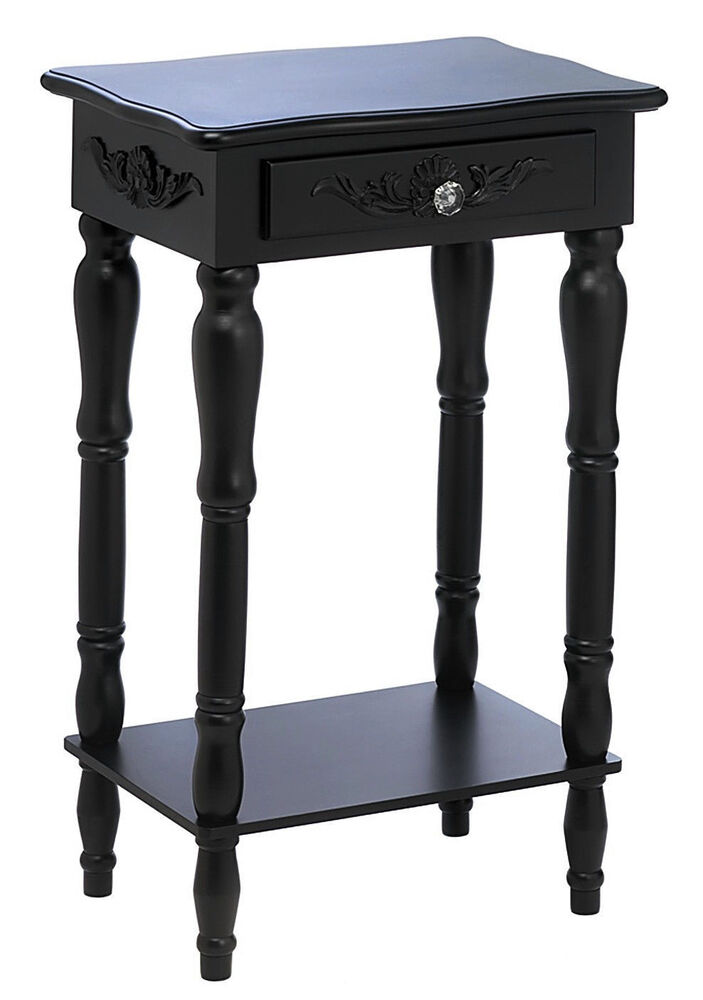 distressed black end tables shabby colonial chic distressed black carved wood side 6778