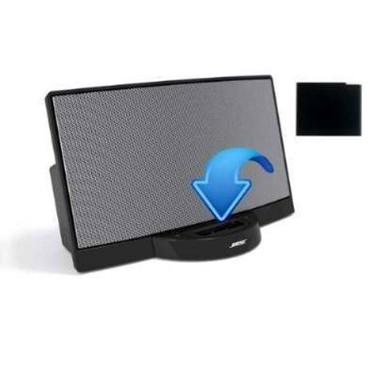 black bluetooth a2dp music receiver adapter for bose sounddock i ii 10 portable ebay. Black Bedroom Furniture Sets. Home Design Ideas