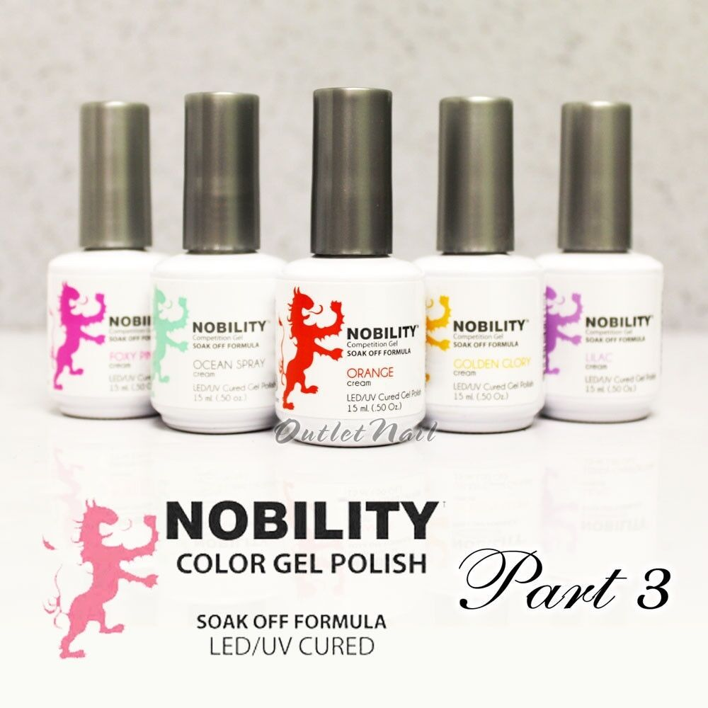 LeChat Nobility > PART 3 Soak Off LED/UV Gel Color Polish 15 mL/0.5 ...