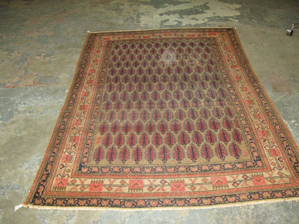 Antique Fine Persian Hand Knotted Wool Malayer Kurdish