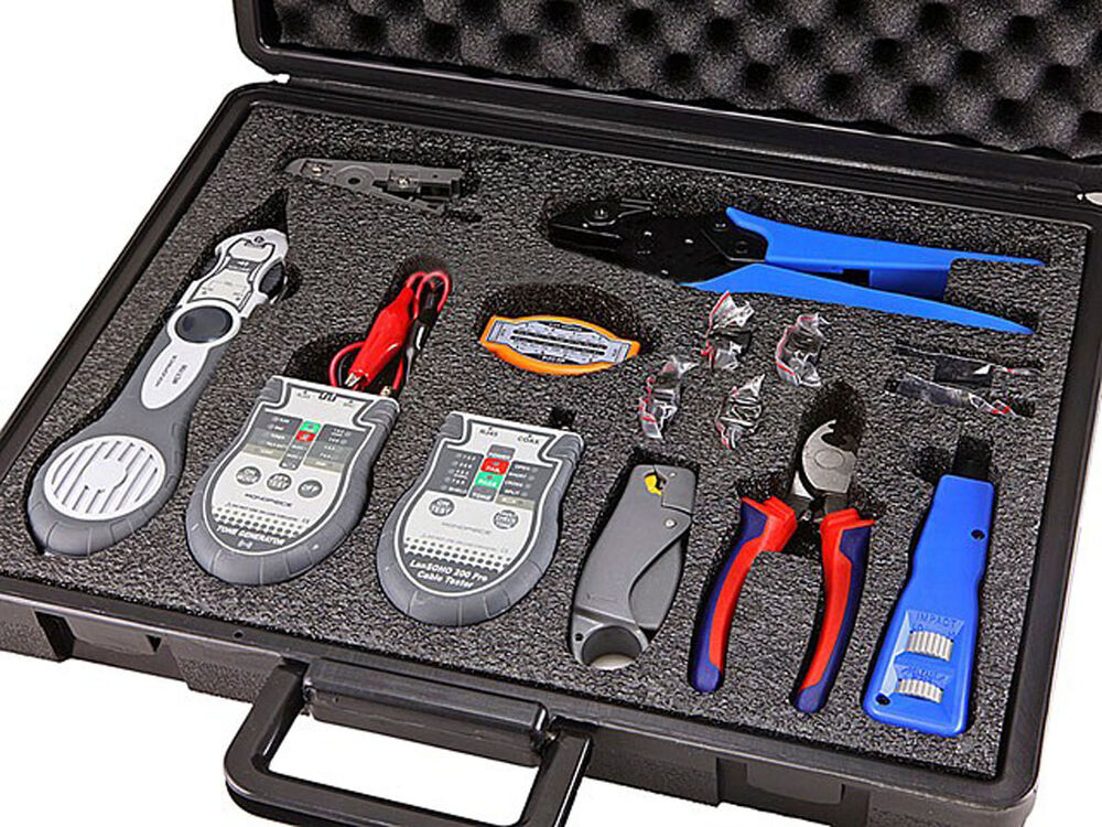 Professional Networking Cable Tester Tool Kit Lan Coaxial