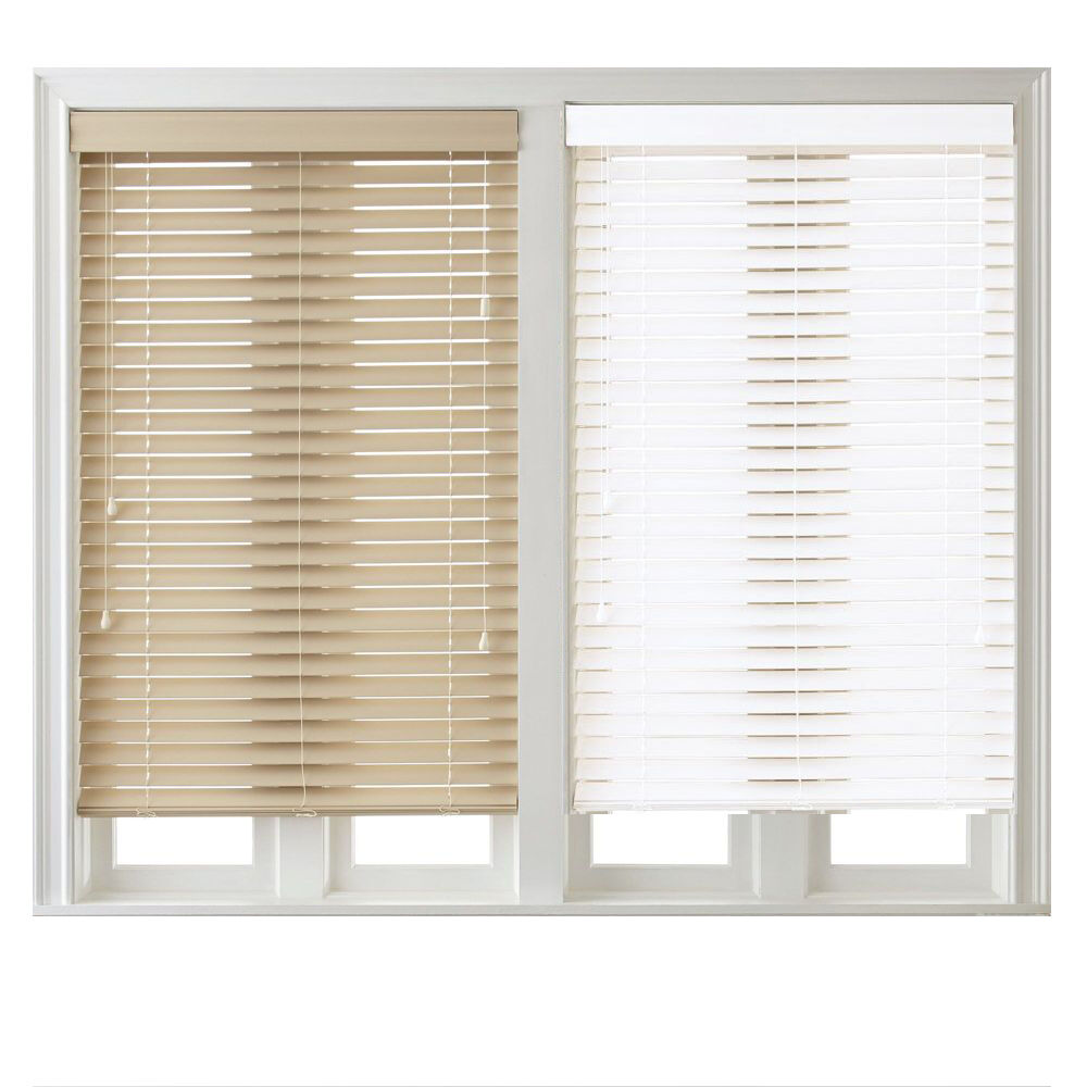 2 inch faux wood blinds with valance two colors