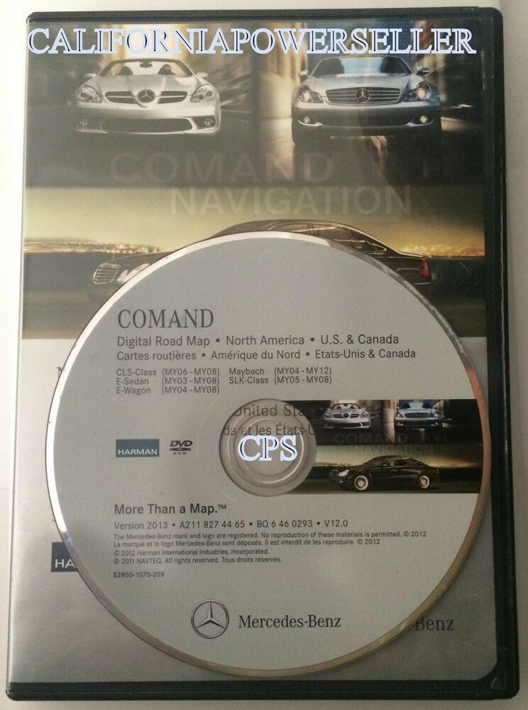 navigation dvd for comand mercedes benz map dvd update 2013 new e slk cls ebay. Black Bedroom Furniture Sets. Home Design Ideas