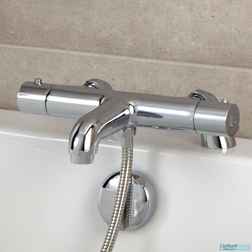 Bathroom Thermostatic Bath Shower Mixer Valve Chrome