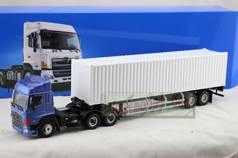 Toy Tractor Trailer Trucks : Scale hino tractor trailer truck diecast blue
