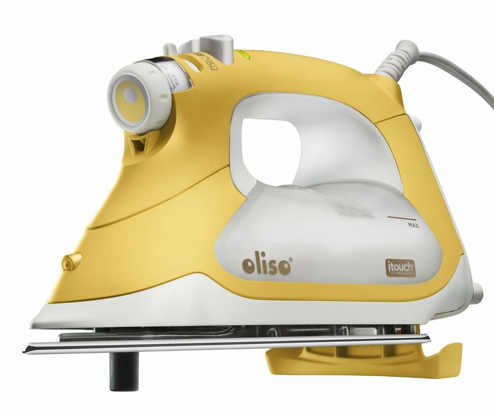 oliso yellow tg1600 1800 watts quilters smart steam iron pro itouch technology ebay. Black Bedroom Furniture Sets. Home Design Ideas