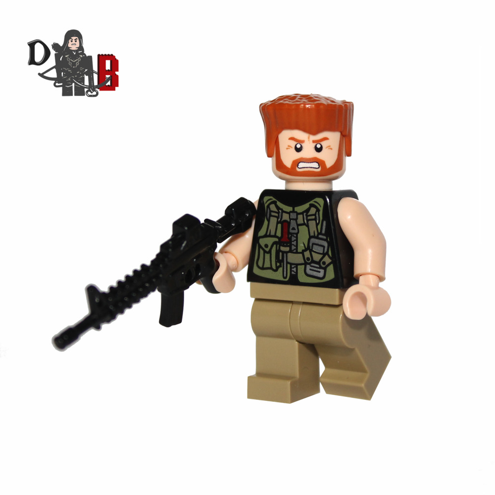 the walking dead abraham ford minifigure made using lego. Black Bedroom Furniture Sets. Home Design Ideas