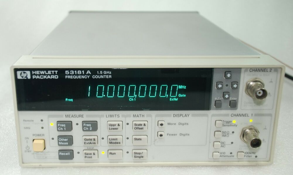 Agilent Frequency Counter : Hp agilent a rf frequency counter ghz ms oven
