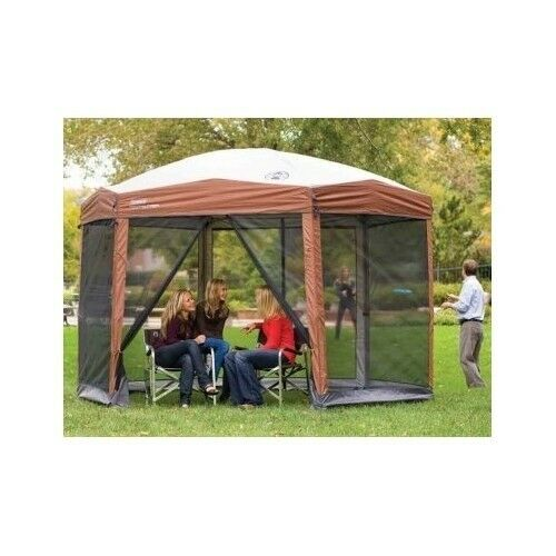 Gazebo Canopy Camping Tent Instant Large Screened Shelter