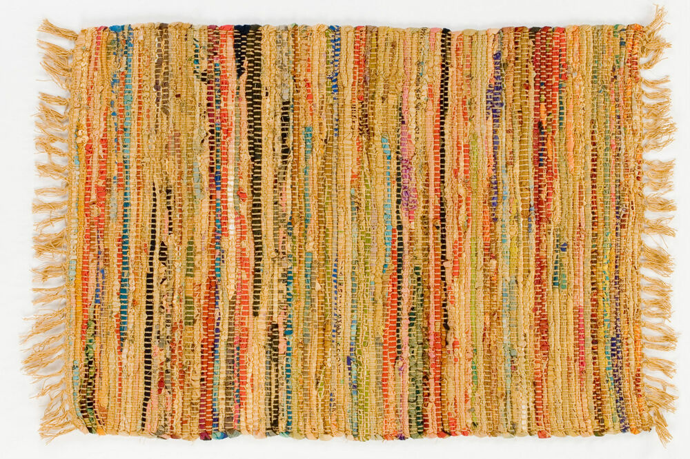 Country Rag Rug Runner In Mustard Color 24 Quot X 72 Quot 100