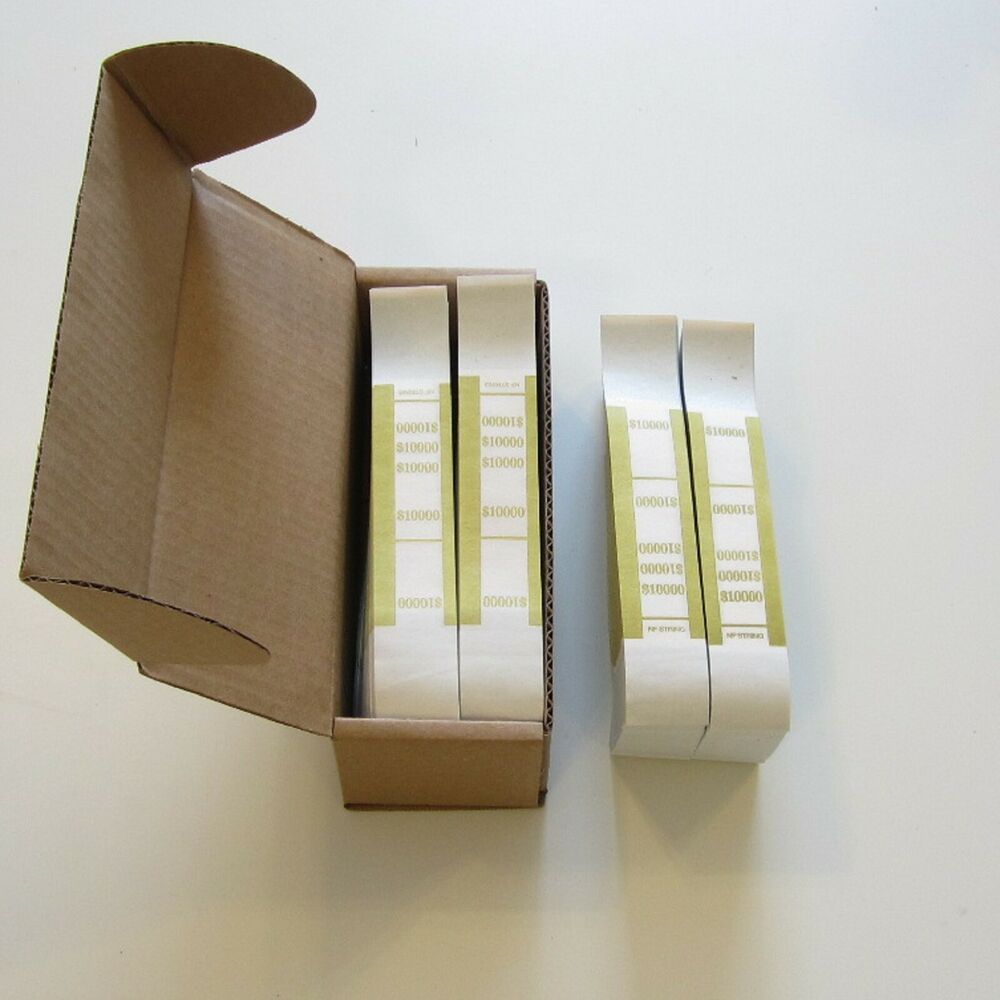 1000 Self Sealing Gold 10000 Currency Straps Money Bill