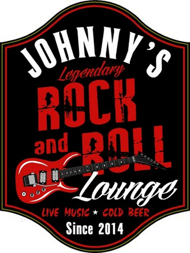 Rock roll lounge custom wooden novelty sign ebay