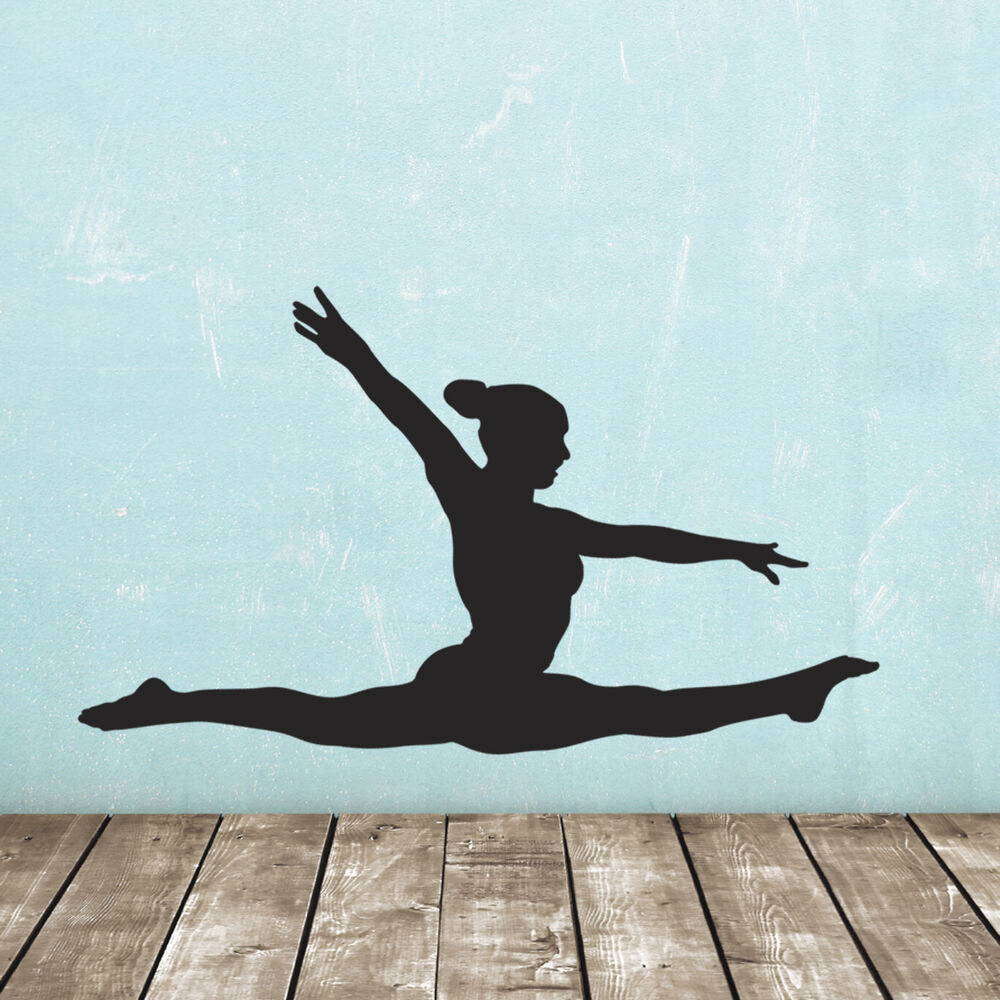 Gymnast Wall Sticker Gymnastics Splits Wall Sticker Ebay