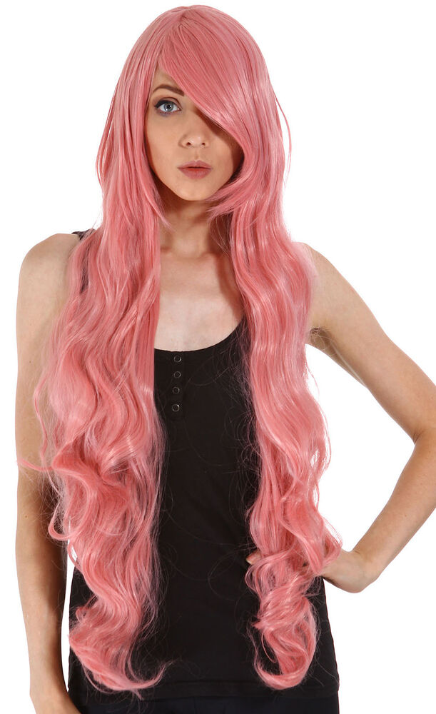 Womens Long Curly Wavy Hair Synthetic Cosplay Anime Party
