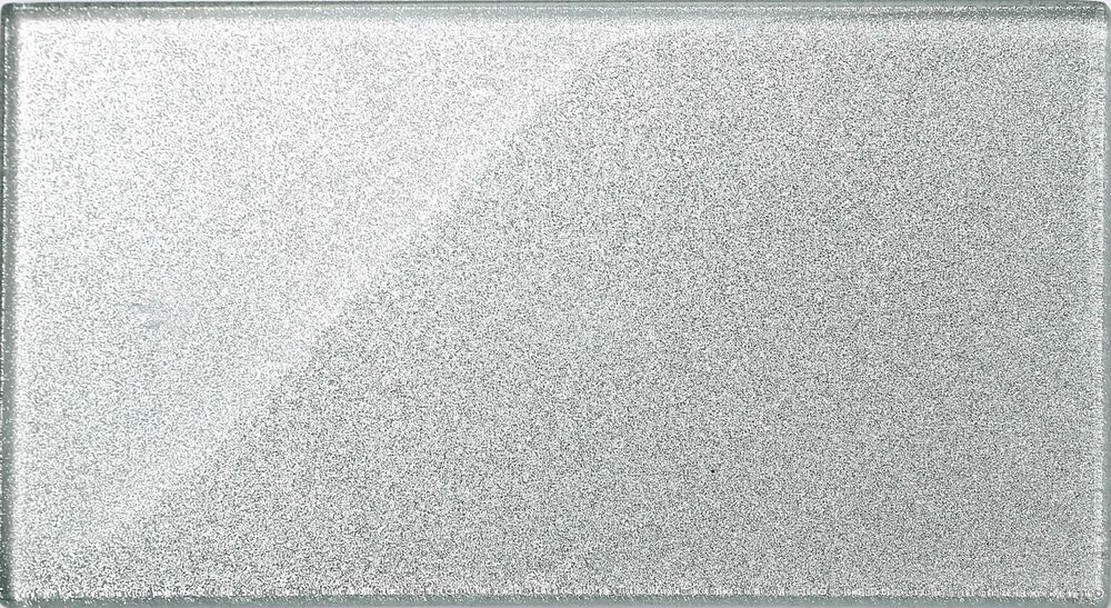 Silver Glitter Glass Tiles Bathroom Bath Splashback