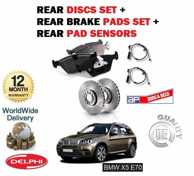 FOR BMW X5 E70 3.0 TD 2007-4/2009 REAR BRAKE DISCS SET