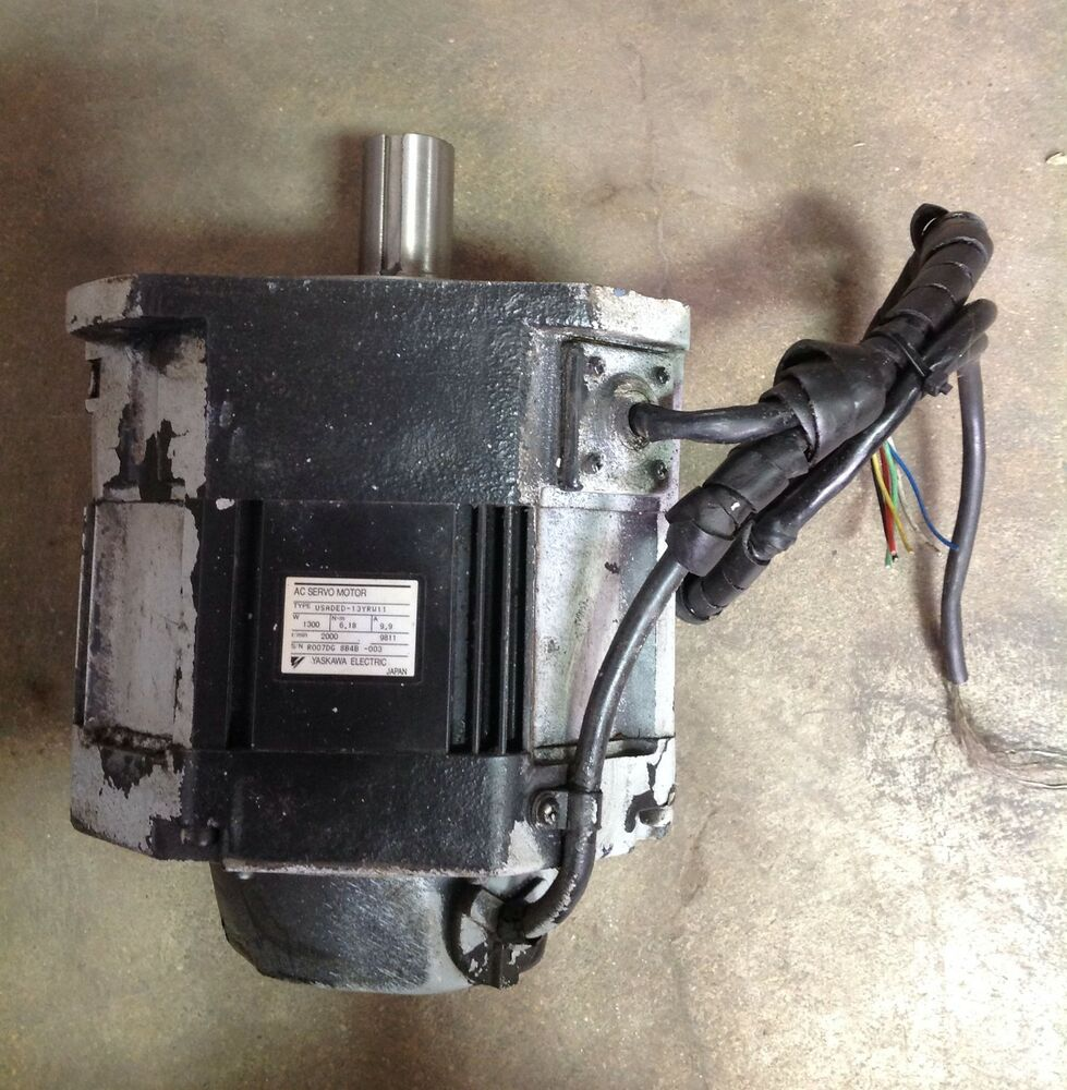 Yaskawa Electric Ac Servo Motor Usaded 13yrw11 Ebay