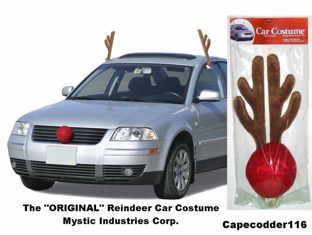 Rudolph Reindeer Antlers Amp Nose Car Costume All Vehicles