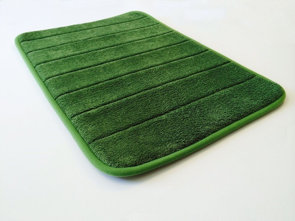 24 X17 Green Smooth Luxurious Micro Plush Anti Skid