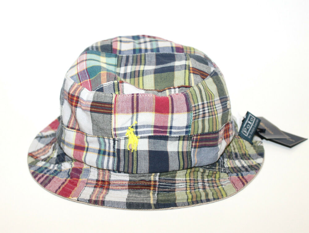 Polo Ralph Lauren Reversible Plaid Madras Bucket Fishing