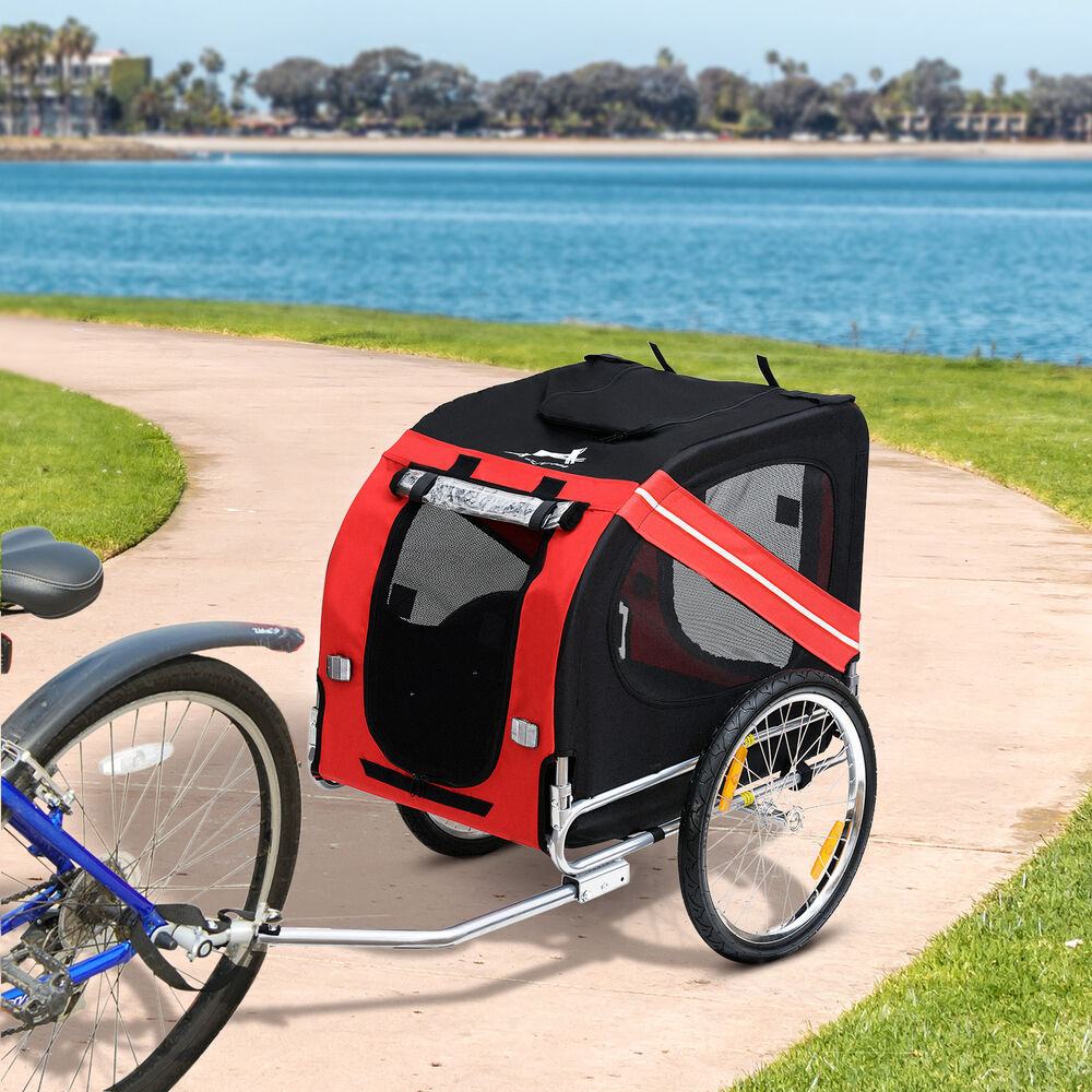 New Folding Pet Bicycle Trailer Dog Cat Bike Carrier W
