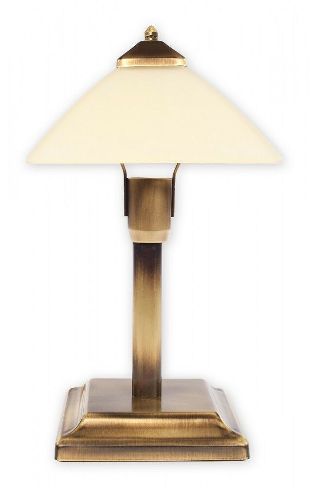 small table lamp retro gold cream glass cross. Black Bedroom Furniture Sets. Home Design Ideas