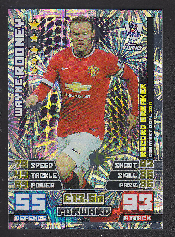 Wayne Rooney Match Attax Match Attax Record Breaker Wayne Rooney Manchester
