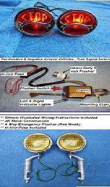 Model Quot A Quot 6 Volt Ultimate Turn Signal Light Kit Ford 1928