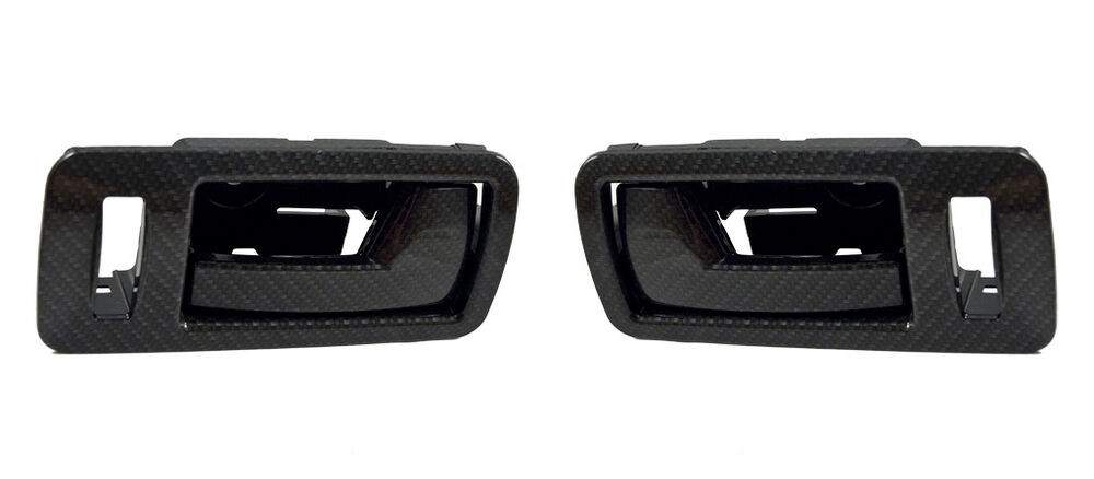 2005 2014 ford mustang gt v6 carbon fiber interior inside door handles pull pair ebay for Carbon fiber mustang interior parts