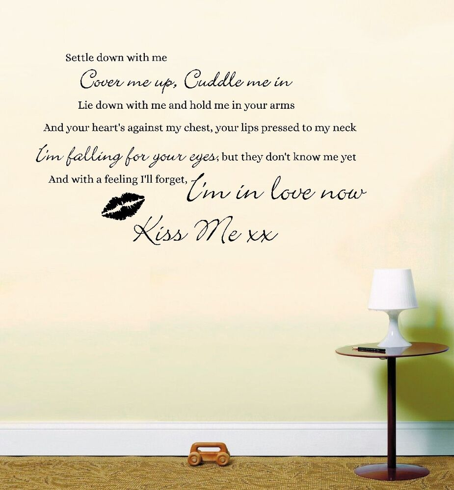 Ed Sheeran Kiss Me Song Music Lyrics Quote Sticker Wall ...