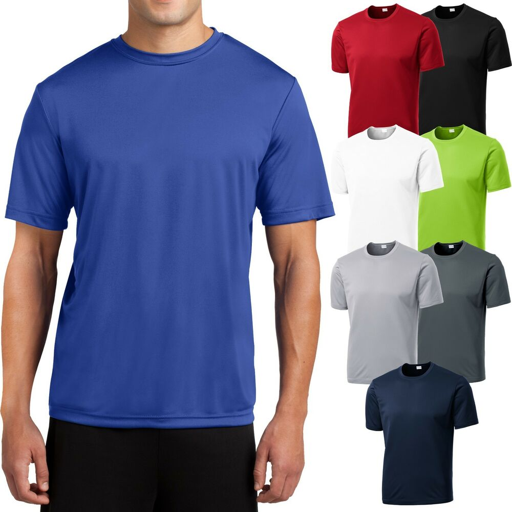 New Mens Moisture Wicking Dry Zone Workout Big Tall T