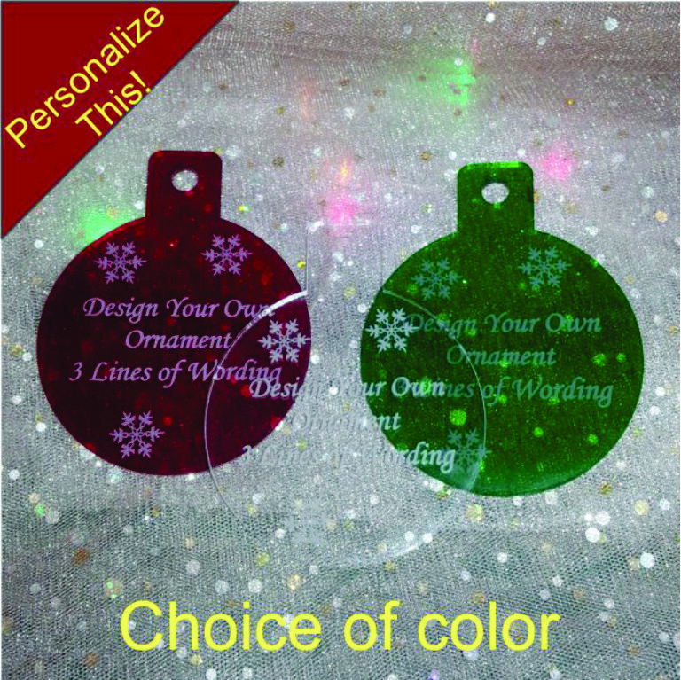 Personalized Design Your Own Words Christmas Ornament