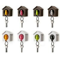 Lovely House Key Bird Nest Sparrow Chain Ring Chain Wall Hook Holders Whistle O