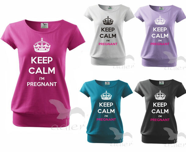 Expecting Baby Gifts Uk : Maternity pregnancy t shirt top funny keep calm i`m