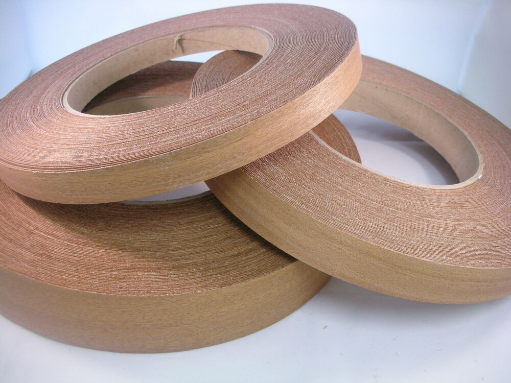 Iron On Sapele Mahogany Edging Glued Real Wood Veneer Tape